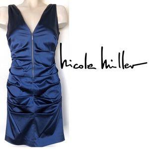 Nicole Miller ruched zip bandage Oscars mini dress